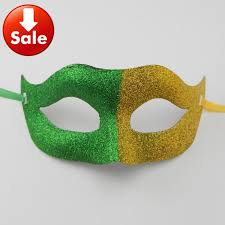 carnival masks for sale on sale brazil flag fans mask half party mask gold powder