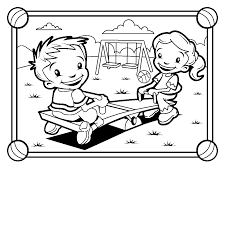 playground equipment coloring pages clipart panda free clipart