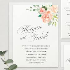 wedding invitations order online the blooms pink chagne paper invitations stationery