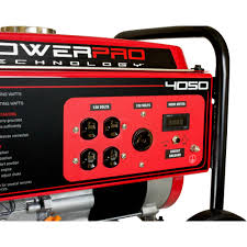 powerpro 4050w 212cc 7 hp gas powered portable generator with