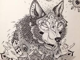 tattoo commission tattoo tattoos wolf mandala drawing u2026 flickr