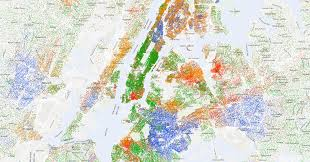 york city on map mapping segregation the york times