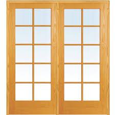 interior glass double doors mmi door 49 5 in x 81 75 in classic clear glass 10 lite true