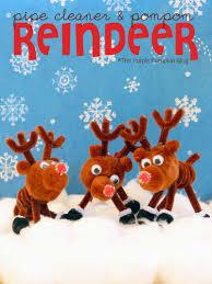 pipe cleaner u0026 pom pom reindeer craft