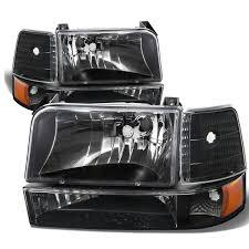 92 96 ford bronco f150 f250 f350 headlights bumper