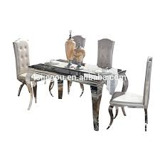 stainless steel dining room tables stainless steel dining set modern durable stainless steel dining