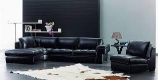 Modern Leather Sofa Black Living Room Modern Leather Living Room Furniture Medium Plywood