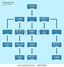 corporate organization chart template rectangle elements stock