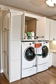 Laundry Room Cabinets With Hanging Rod Family Craft Laundry Room Traditional Laundry Room Nashville