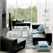 living room rug ideas floor lamp chocolate couch cabinet between