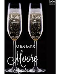 wedding gift glasses find the best savings on wedding chagne glasses engraved