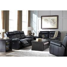 Power Sofa Recliners Leather by Leather Match Power Reclining Sofa W Adjustable Headrest By