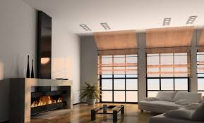 living room fireplace and floor to ceiling windows download 3d house