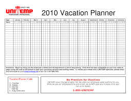 calendar excel vacation calendar template