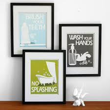 Ideas For Kids Bathroom Bathroom Art Prints Wash Your Hands Brush Your Teeth Etc