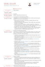 Business Analyst Mobile Application Resume Experienced Data Analyst Cv Example Vinodomia