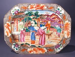 export porcelain mandarin palette platter c 1760 dubey s
