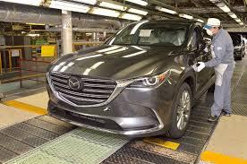 mazda car line production of 2017 mazda cx 9 starts in japan