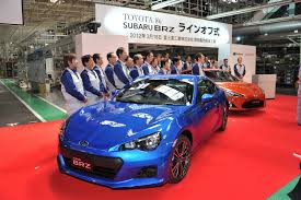 toyota subaru toyota 86 and subaru brz starts production in japan