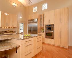 Contemporary Kitchen Lighting Modern Kitchen Design With Light Maple Kitchen Cabinets Track