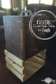 crate side table country design style