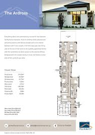 ardross floor plan page house narrow lot plans single storey homes