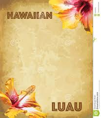 print hawaiian luau party invitation cards stock vector image