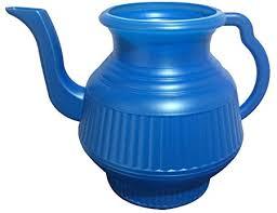 muslim bathroom watering can mayaka786 lota bodna toilet wash jug blue amazon co uk kitchen