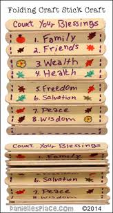 count your blessing folding craft stick thanksgiving craft from