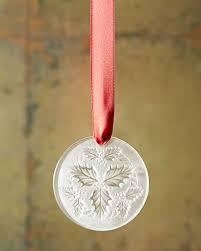 lalique 2014 clear mistletoe ornament