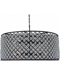 Crystal Chandelier Band Slash Prices On Cassiel Large Black Drum Crystal Chandelier