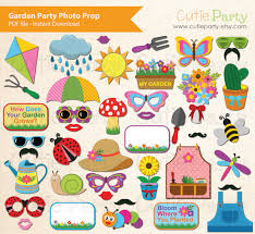printable hippie photo booth props spring garden party photo booth prop garden party theme photo