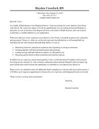 sample application letter for nursing