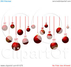royalty free rf clipart illustration of suspended red and gold