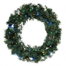 24 pre lit led wreath with timer tree shops andthat