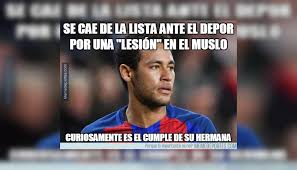 Neymar Memes - neymar protagoniza los divertidos memes del barcelona vs deportivo