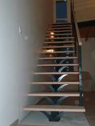limon d escalier en bois escalier droit marches bois limon central métal pose à saumur