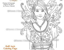 rose fairy tangles printable coloring book pages norma