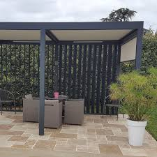 Pergola Sun Shades by Self Supporting Pergola Aluminum With Mobile Slats