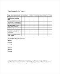 9 team evaluation form samples free sample example format download