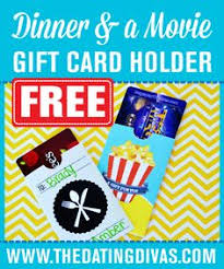 dinner and a gift card gift card holders for theater gift cards