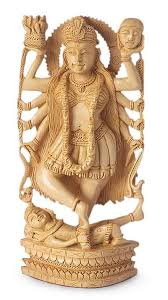 wood sculpture wood sculpture kali goddess of novica