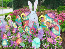 happy easter decorations the 25 best outdoor easter decorations ideas on