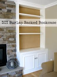 Upholstery Burlap Diy Project Burlap Backed Bookcases Driven By Decor