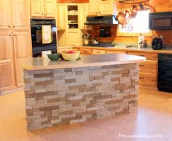 air stone walls kitchen island ideas bar stacked diy veneer