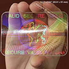 6 id cards security hologram overlay stickers with