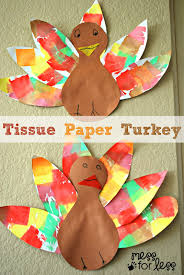 tissue paper turkey craft mess for less