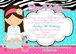 Birthday Invitation Card Maker Spa Birthday Party Invitations Marialonghi Com