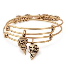 bracelet best images Best friends set of 2 charm bangles american heart association jpg