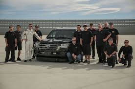 world auto toyota toyota land speed cruiser is now the fastest suv in the world at